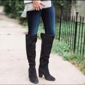Vince Camuto Melaya Black Suede over the knee boot